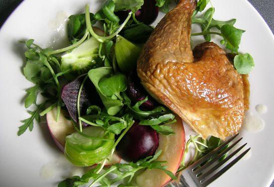 Bradley Sweet Smoked Guinea Fowl Salad with Horseradish Dressing