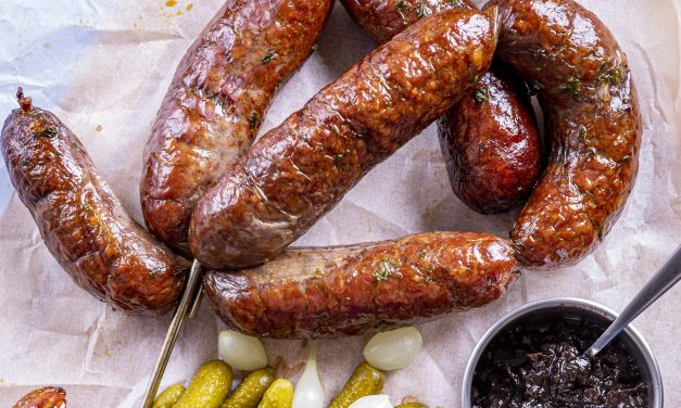 Venison and Jalapeno Smoked Sausage by Cai Ap Bryn from @gameandflames